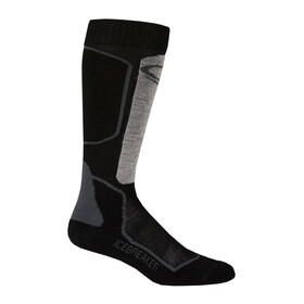 Icebreaker Ski+ Light Over The Calf Socks Men oil/black/silver